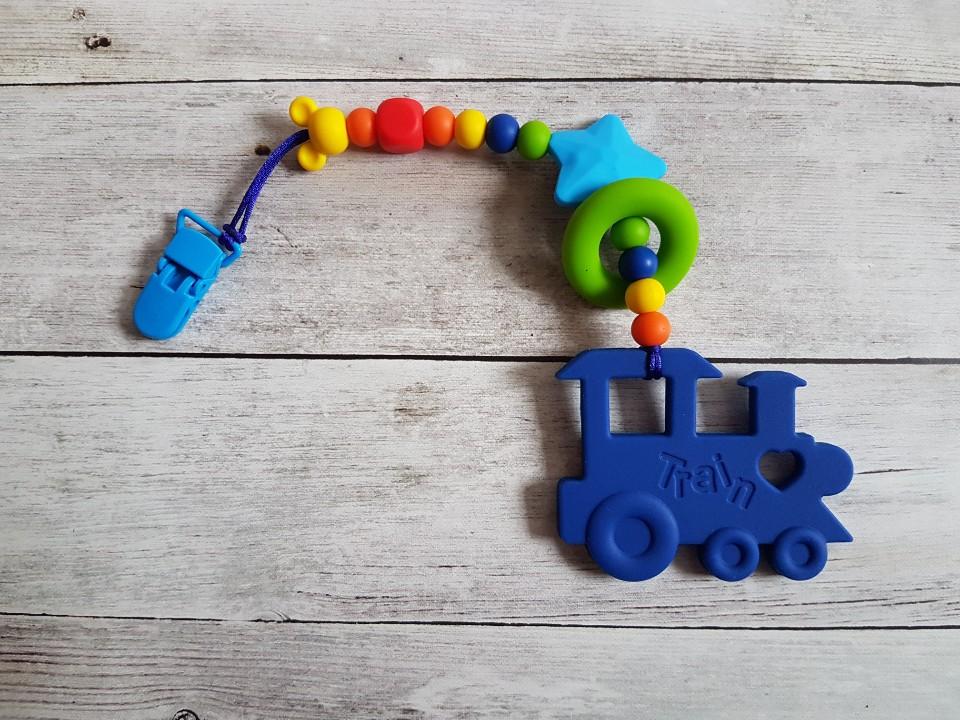 Egy ágú színes rágóka (kek_vonat-szivarvany)